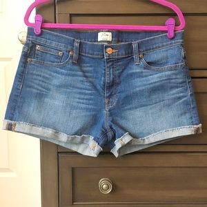 J. Crew denim rolled hem shorts